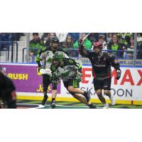 The Vancouver Stealth battle the  Saskatchewan Rush