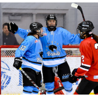 Buffalo Beauts celebrate a goal