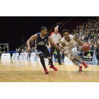 Halifax Hurricanes PG Cliff Clinkscales defends against the St. John's Edge