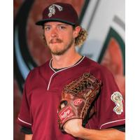 RHP Zac Treece with the Gary SouthShore Railcats