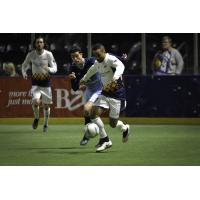 The Tacoma Stars control the ball vs. the San Diego Sockers
