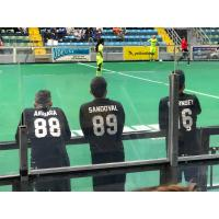 Cedar Rapids Rampage bench watches the game against the Milwaukee Wave