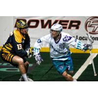 Kyle Jackson of the Rochester Knighthawks vs. the Georgia Swarm