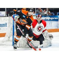 Zac Larraza of the Fort Wayne Komets vs. the Cincinnati Cyclones