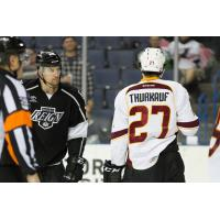 Calvin Thurkauf of the Cleveland Monsters stares down the Ontario Reign