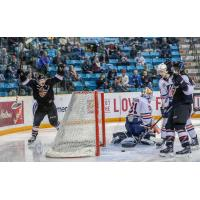 James Malm celebrates a Vancouver Giants' goal
