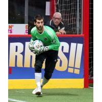 San Diego Sockers Goalkeeper Chris Toth eyes the field
