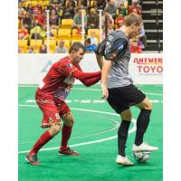 Baltimore Blast Defender Pat Healey vs. the Syracuse Silver Knights