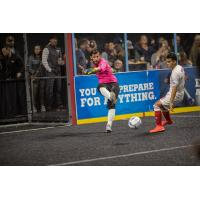 Milwaukee Wave Goalkeeper Josh Lemos distributes the ball