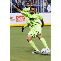 Milwaukee Wave Defender Jonathan Santos controls the ball