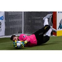 Milwaukee Wave Goalkeeper Josh Lemos smothers a shot