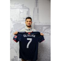 John Oliveira with New England Revolution jersey