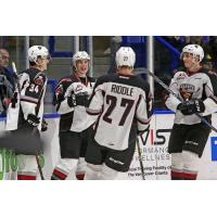 Ty Ronning and Vancouver Giants teammates share a laugh