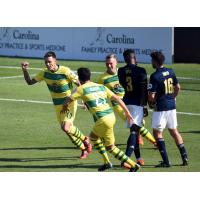 Tampa Bay Rowdies celebrate a goal vs. North Carolina FC