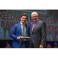 Dillon Dube Receives the 2018 Kelowna Rockets President's Award