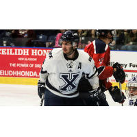 Defenseman Jagger Dirk with St. Francis Xavier University