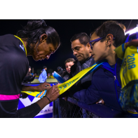 Las Vegas Lights FC player signs for the fans