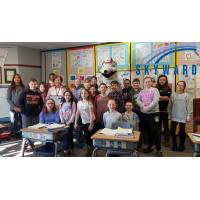 Skyward Central Wisconsin Teacher of the Year Mary Sabo and her class