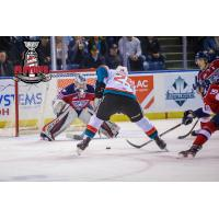 Kelowna Rockets take a shot vs. the Tri-City Americans