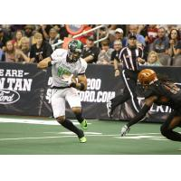Arizona Rattlers' Dillion Winfrey eyes a Nebraska Danger ballcarrier