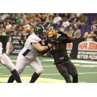 Arizona Rattlers fight around a Nebraska Danger blocker