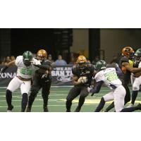 Arizona Rattlers run the ball vs. the Nebraska Danger