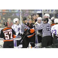 Omaha Lancers mix it up with the Tri-City Storm