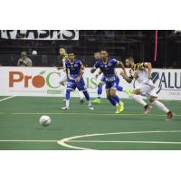 Baltimore Blast and Monterrey Flash race to the ball
