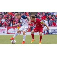 Indy Eleven Midfielder Zach Steinberger in action against the Richmond Kickers