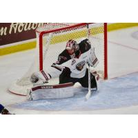 Vancouver Giants Goaltender David Tendeck makes a catch