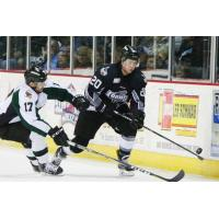 Eric Sweetman of the Idaho Steelheads vs. the Utah Grizzlies