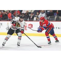 Portland Winterhawks Left Wing Kieffer Bellows vs. the Spokane Chiefs