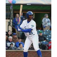 Seuly Matias of the Lexington Legends awaits a pitch