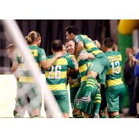 Tampa Bay Rowdies celebrate a goal against Ottawa Fury FC