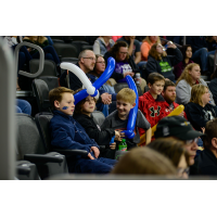 Young Sioux Falls Stampede fans watch the action