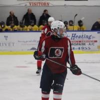 Defenceman Ethan Allair with the North Bay Trappers Midget AAA