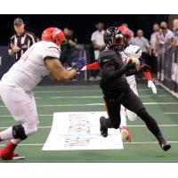 Arizona Rattlers gain yards vs. the Sioux Falls Storm