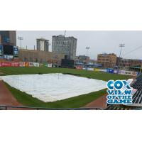 The tarp on Fifth Third Field, home of the Toledo Mud Hens