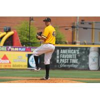 Pitcher Colten Brewer with the West Virginia Power