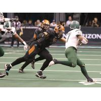 Chris McCallister prepares to tackle a Green Bay Blizzard ball carrier