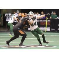 Arizona Rattlers and Green Bay Blizzard battle in the trenches