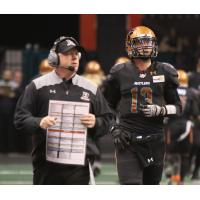 Arizona Rattlers head coach Kevin Guy and quarterback Jeff Ziemba
