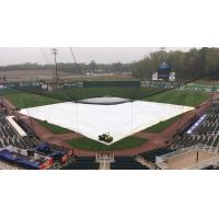 The tarp on The Ballpark at Jackson, home of the Jackson Generals