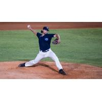 Pitcher Justin Anderson with the Mobile BayBears