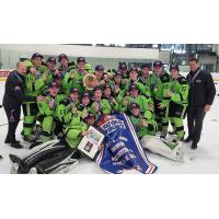 Jacob Perreault's Chicago Mission U16 team celebrates USA Hockey National Championship
