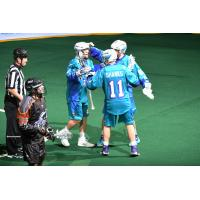 Rochester Knighthawks celebrate vs. the New England Black Wolves