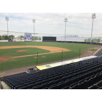 New first base netting at Richmond County Bank Ballpark