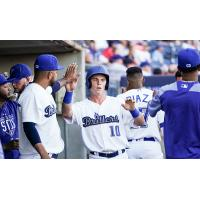 Tulsa Drillers congratulate Will Smith after his home run