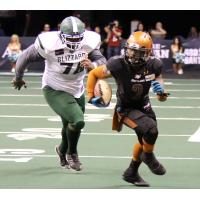 Arizona Rattlers attempt to outrun the Green Bay Blizzard