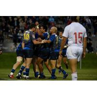 Glendale Raptors celebrate vs. the San Diego Legion